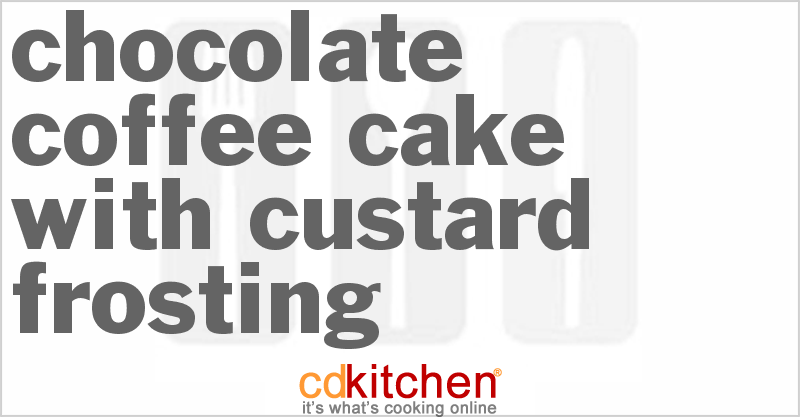 Custard coffee cake recipe