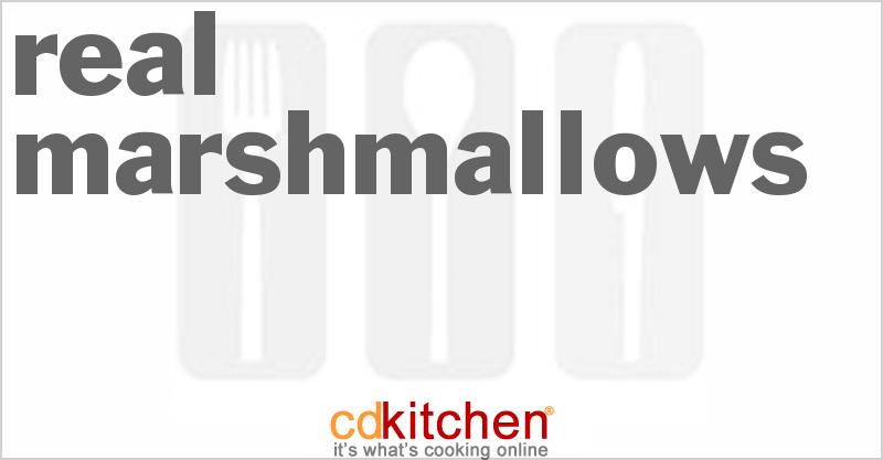 Real Marshmallows Recipe Cdkitchen Com