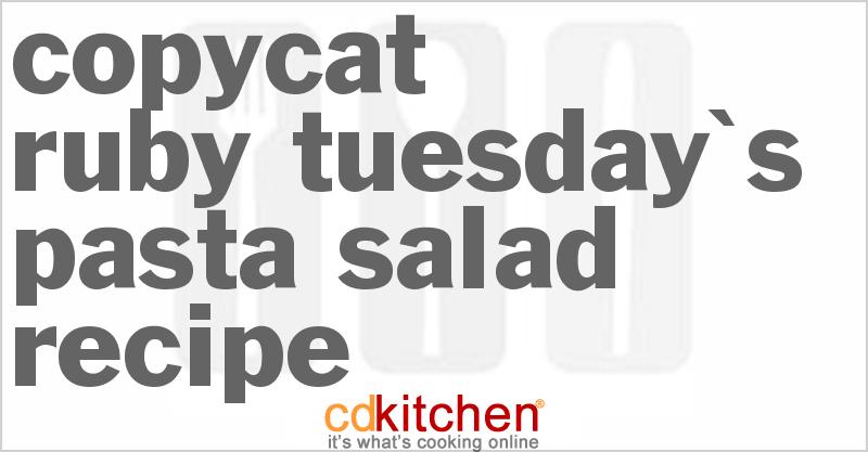 recipe: ruby tuesday ham and pea pasta salad recipe [16]