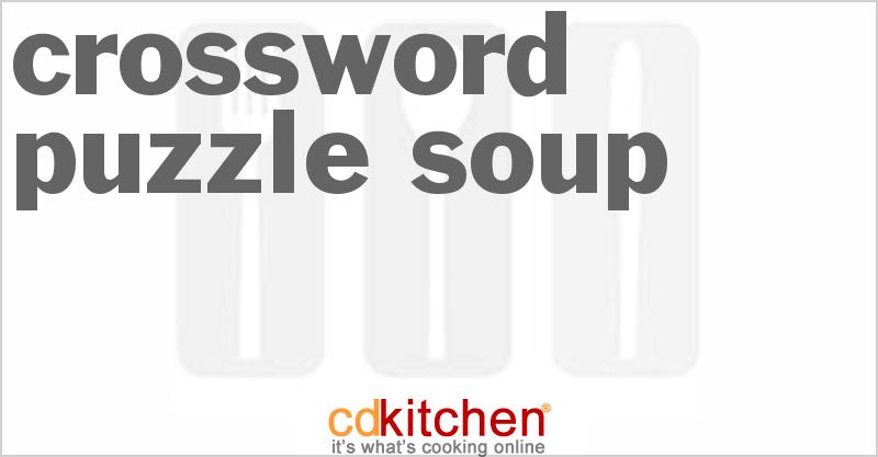 Crossword Puzzle Soup Recipe | CDKitchen.com