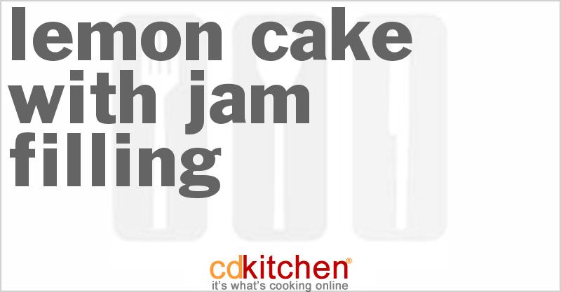 Lemon Cake With Jam Filling Recipe Cdkitchen Com
