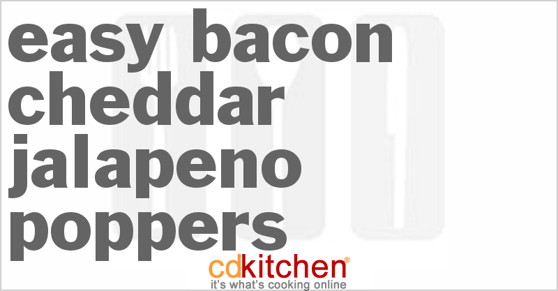 Super Bowl Bacon Cheddar Jalapeno Poppers Recipe | CDKitchen.com