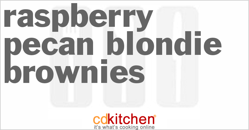 Raspberry Pecan Blondie Brownies Recipe | CDKitchen.com