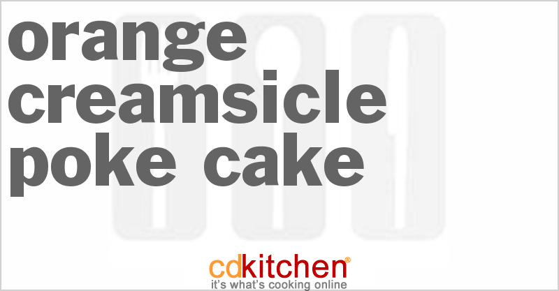 Orange Supreme Poke Cake